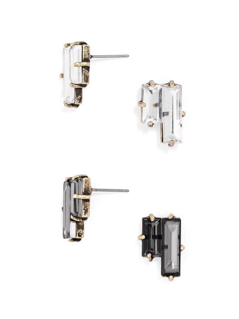Tetris Gem Stud Set Earring | BaubleBar