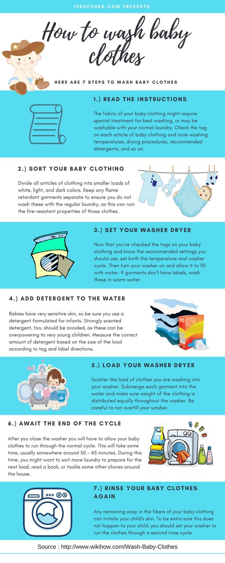 How To Wash Baby Clothes An Easy Guide To Washing Babies Clothes