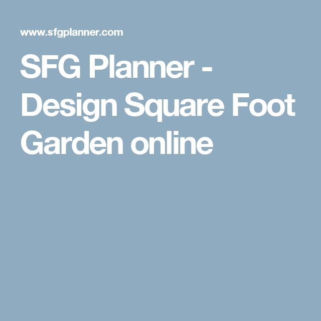 Sfg Planner Design Square Foot Garden Online Square Foot