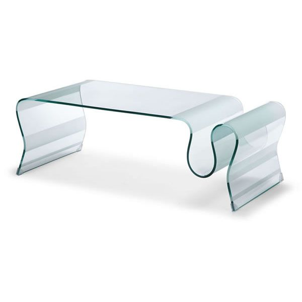 Modern Glass Free Form Coffee Table Discovery