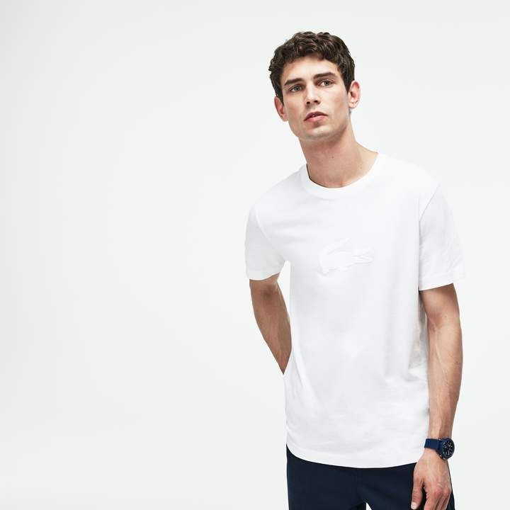 e145a409f4 Lacoste Men's Crew Neck Oversized Crocodile Jersey T-shirt in 2019 ...
