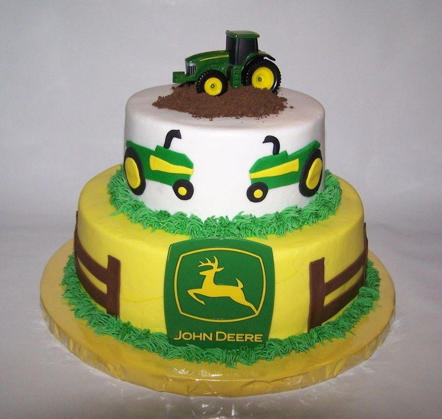 john deere cakes john deere 9in 6in stacked john deere cake iced