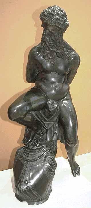 """Pierre Francheville, """"Slave"""" 1605 bronze stature, Louvre. Made for Queen Marie de Medicis."""