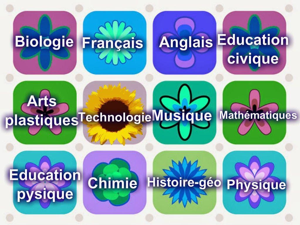 Célèbre les matières scolaires | FLE: École | Pinterest | Matières  LA09