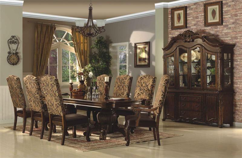 Room McFerran Home Furnishings D8401 7 Piece Dining Set