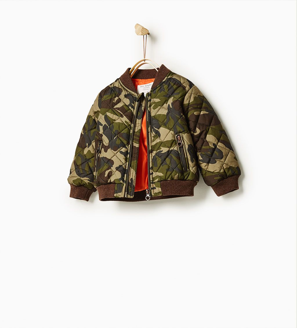 a582ee02b73a0 Camouflage bomber jacket-OUTERWEAR-BABY BOY | 3 months-4 years-KIDS | ZARA  United Kingdom