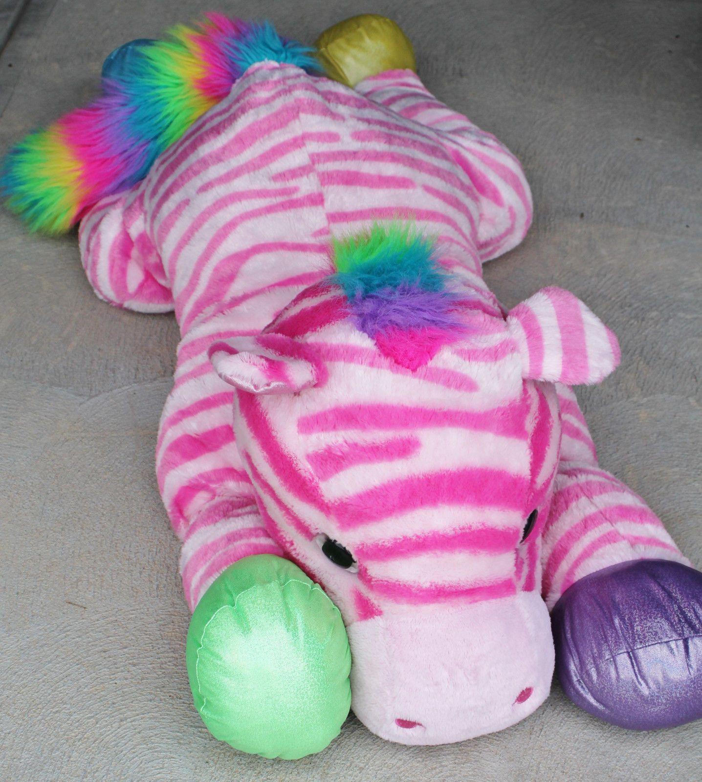 Huge 50 Pink Rainbow Zebra Plush Goffa Very Important Plushies