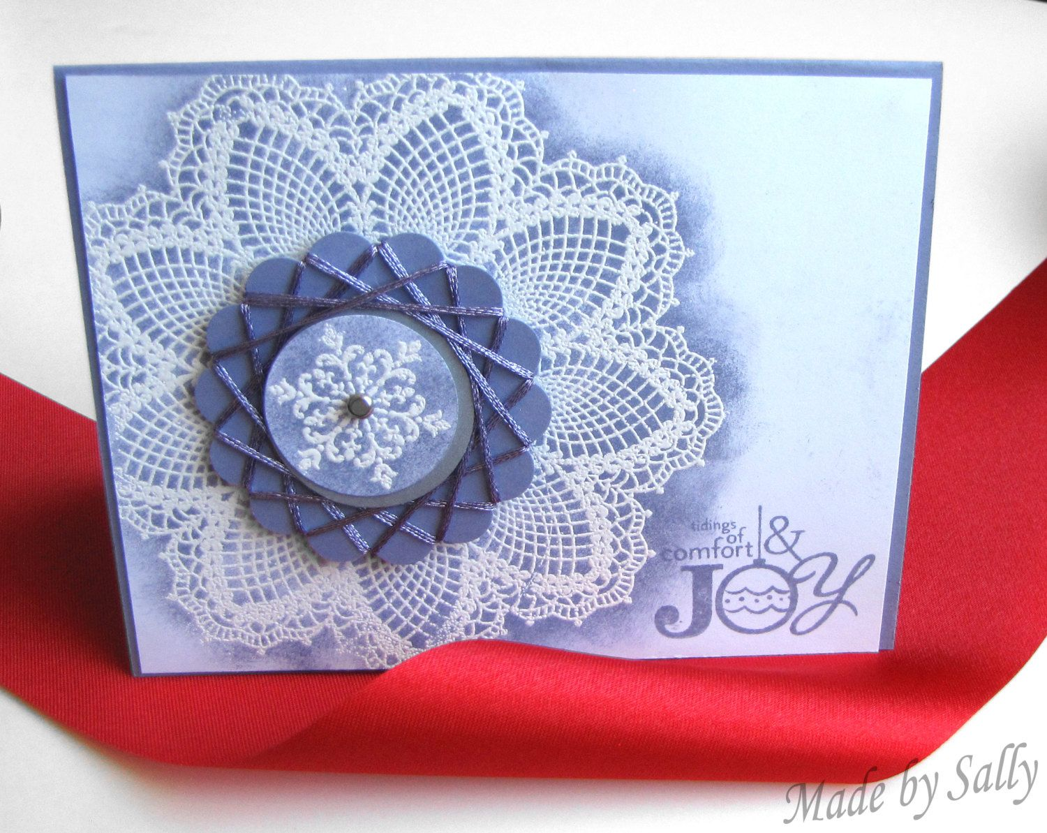 Tidings of Comfort and Joy Greeting Card, Handmade by