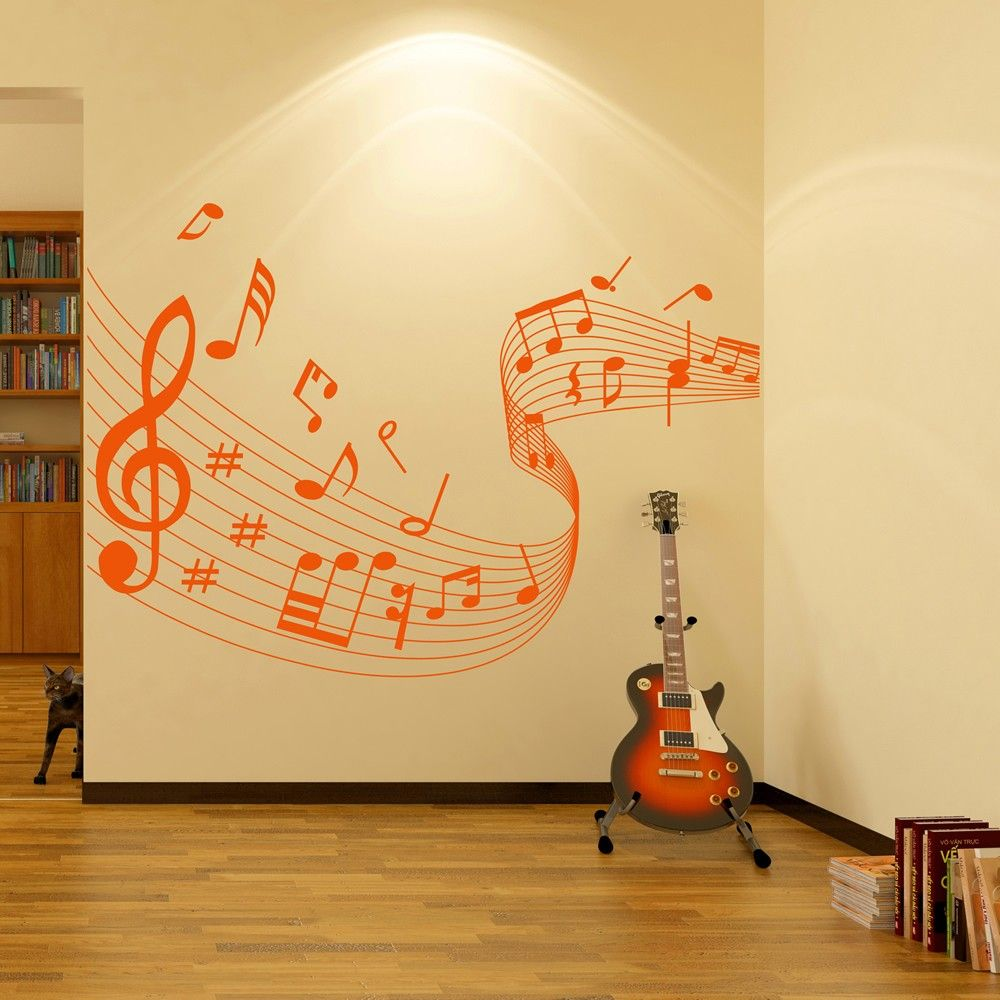 Brighten up any wall in your room with an easy to apply wall sticker ...