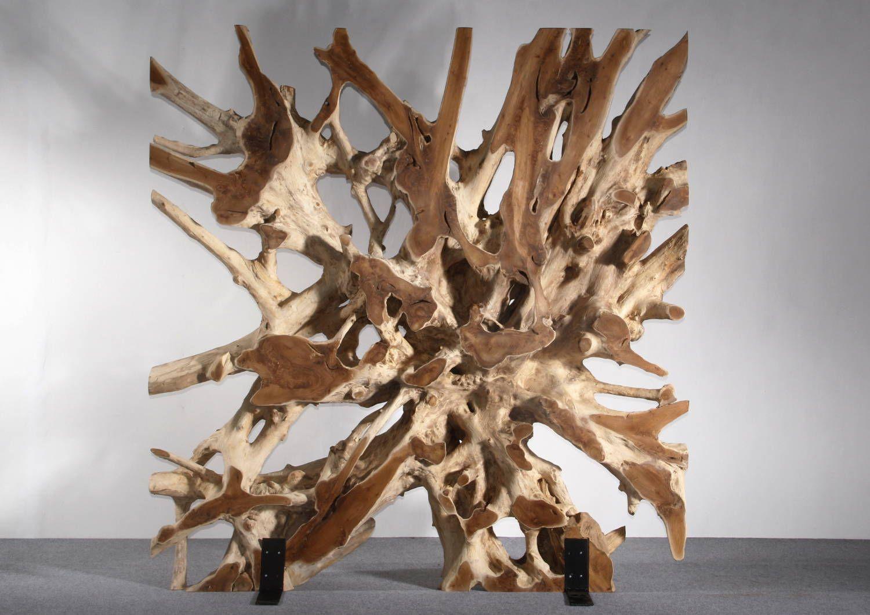 wurzelholz teakholz raumteiler aus der wurzel eines echtem teakbaumes