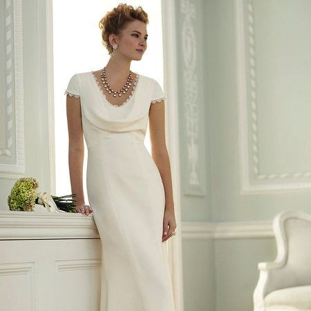Cowl Neck Wedding Dress In The Style Of Pippa Middleton From