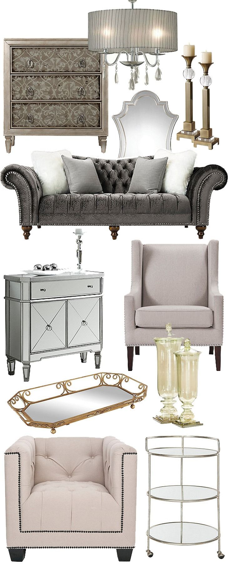 Sumptuously Showy Yet Still Refined Vintage Glam Combines