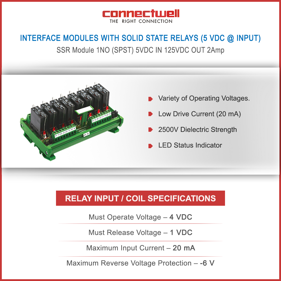 Product Interface Modules With Solid State Relays 5 VDC Input