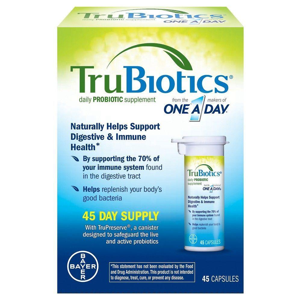 One A Day Trubiotics Probiotics Supplement 45 Days 45