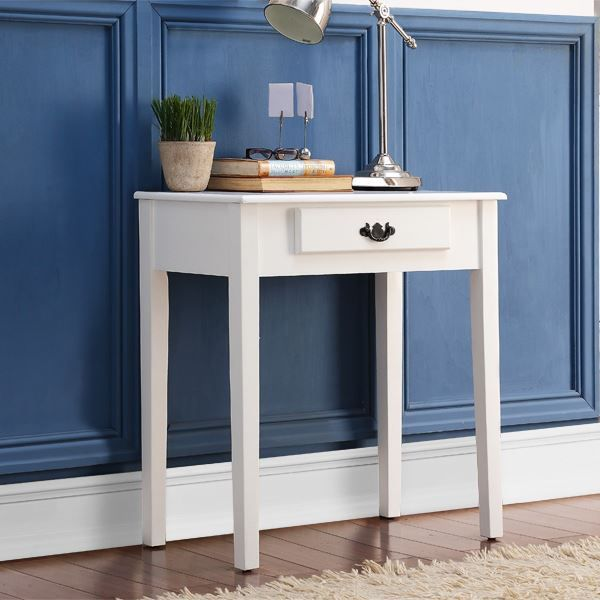 Shaker style console hall table side end dressing desk with drawer
