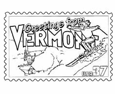 Arkansas State Stamp Coloring Page Arkansas Pinterest