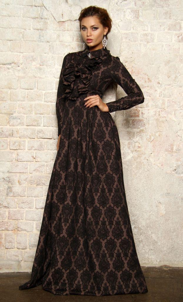 c1ff41c62c7 Вечернее длинное платье из итальянской ткани