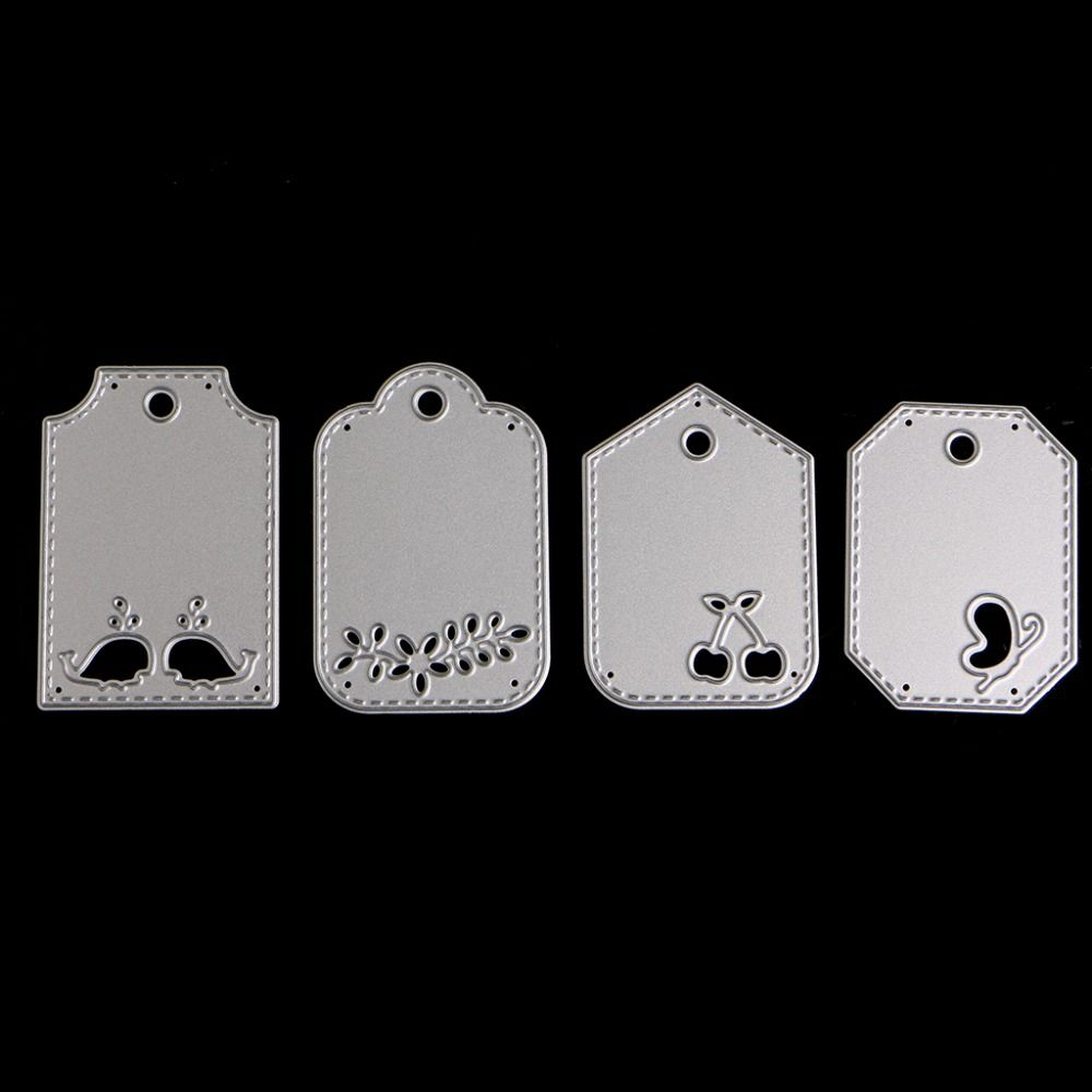 Stitched Tags Metal Cutting Dies Stencils For DIY Scrapbooking Card Craft Decors