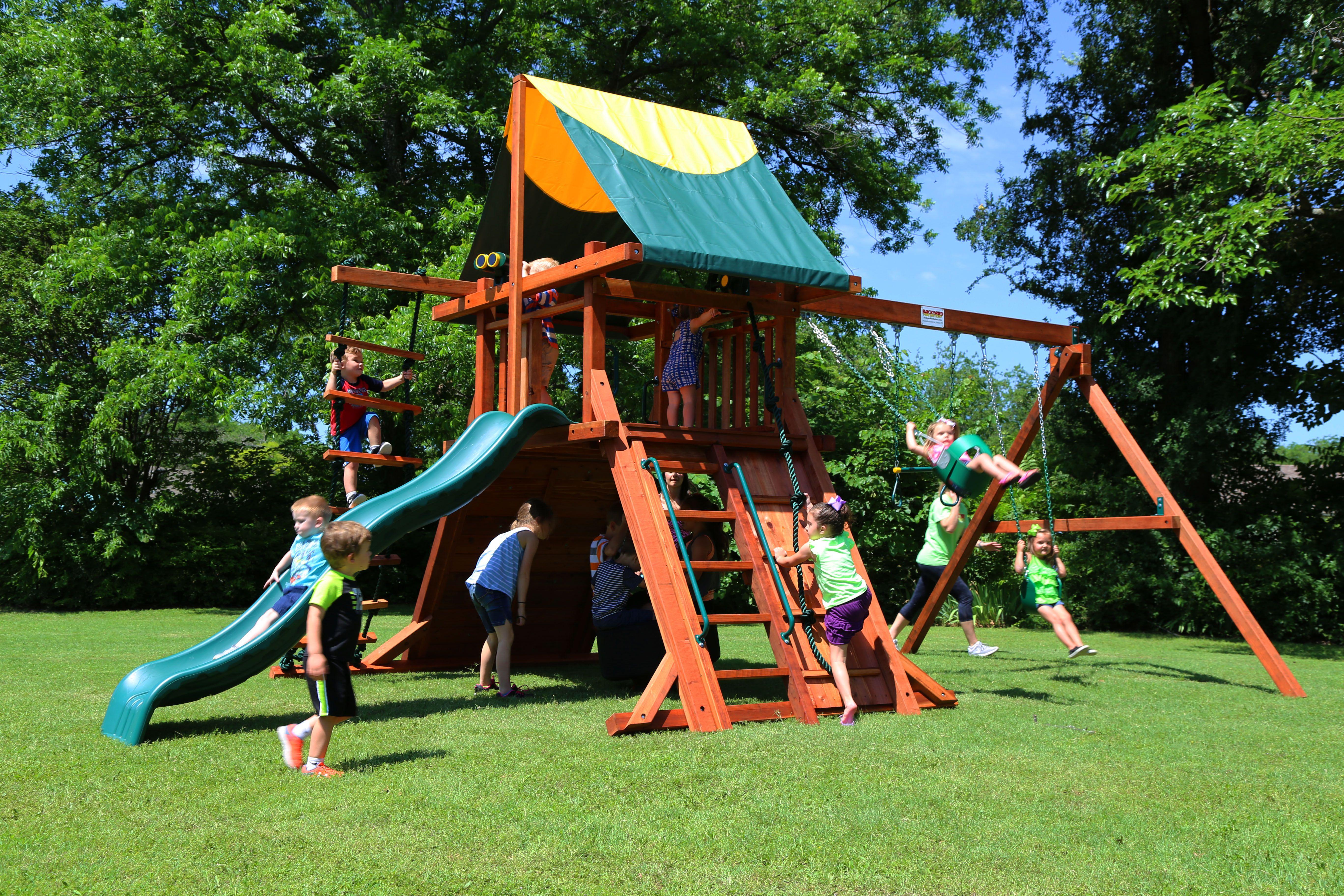 Rustler playset for younger children. #swingset #playset # ...