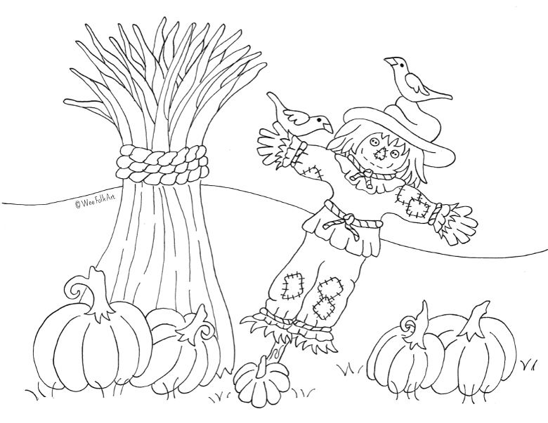 19++ Pumpkin scarecrow coloring page info