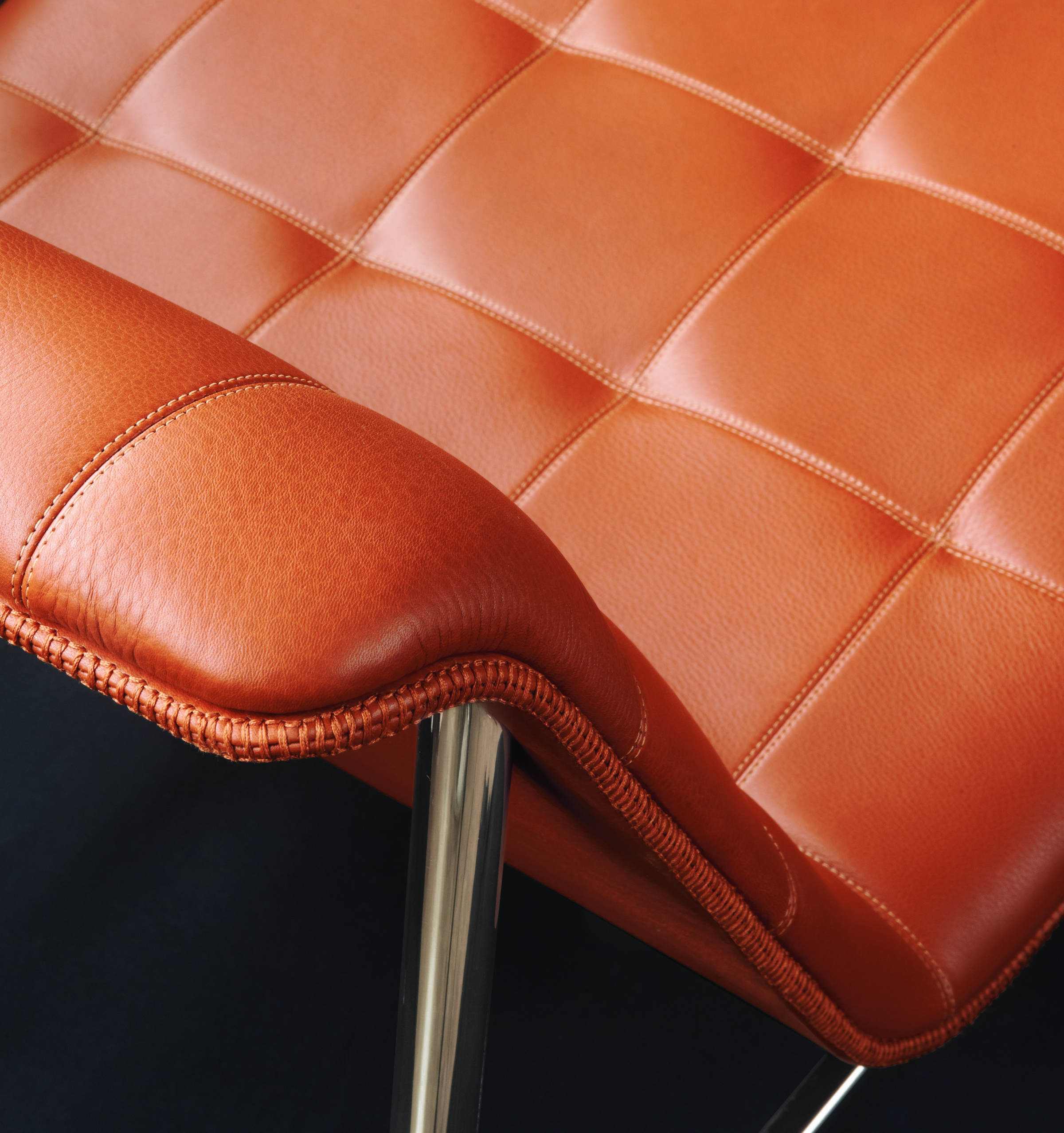 CP.1 lounge chair. New Charles Pollock design for Bernhardt Design. Exquisite detail.