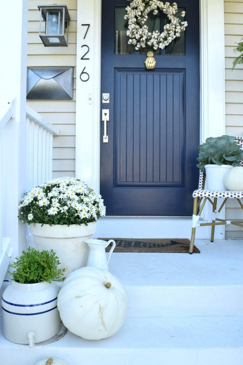 Front Door Colors For Light Blue House Exterior Of Homes Designs Front Door Design Farrow And Ba Exterior House Colors Painted Front Doors House Paint Exterior