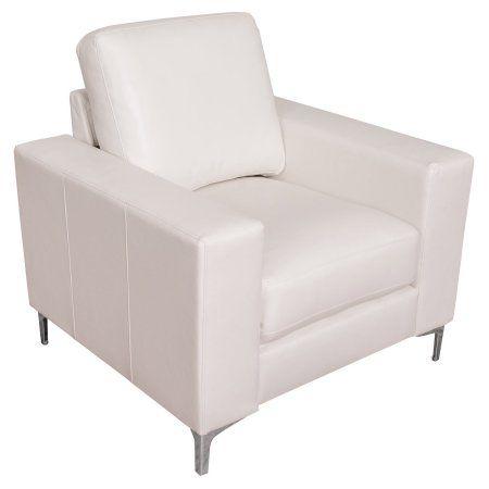 Excellent Corliving Cory Contemporary Bonded Leather Chair White Creativecarmelina Interior Chair Design Creativecarmelinacom