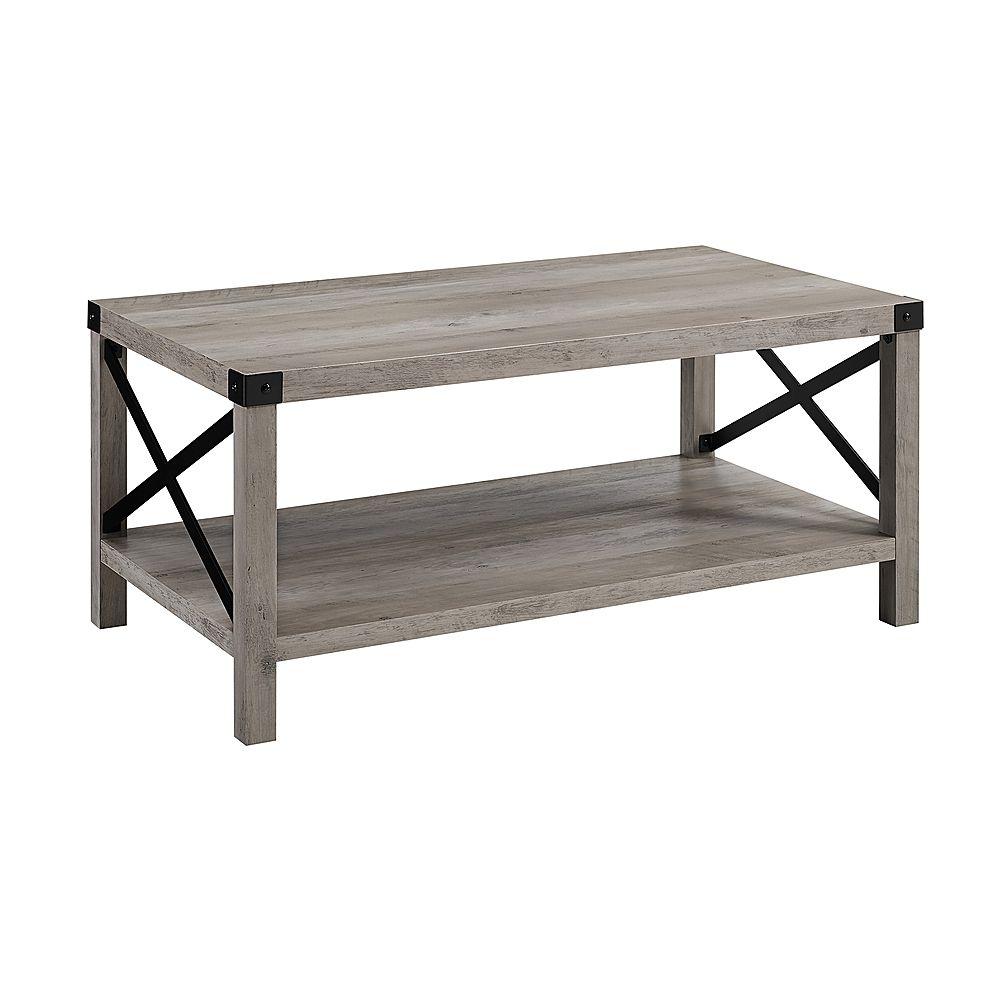 Walker Edison Rustic Farmhouse Wood Coffee Table Gray Wash Bbf40mxctgw Best Buy Coffee Table Wood Coffee Table Grey Coffee Table [ 1000 x 1000 Pixel ]