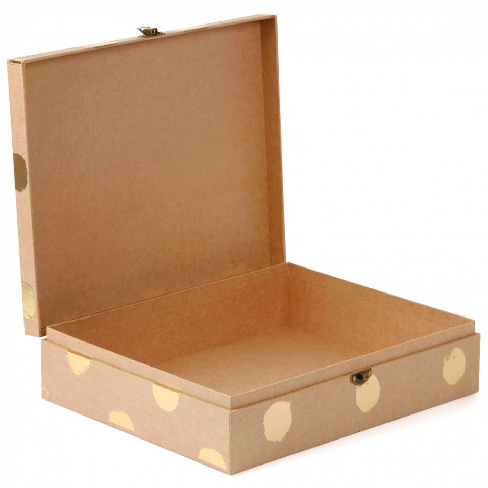 Stationary Boxes Big Spot Kraft Stationery Box Storage Boxes Filing Storage