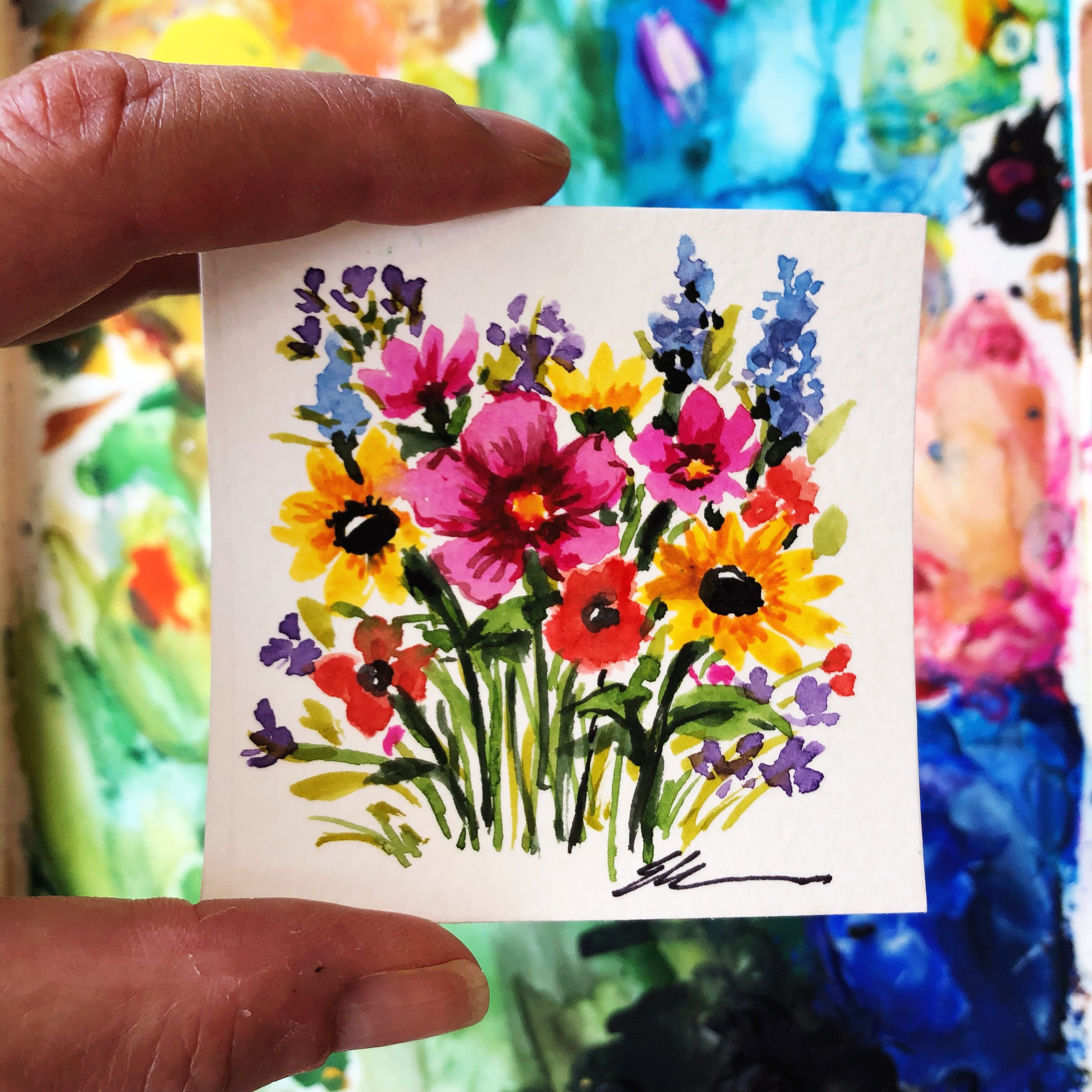 This Cute 3 X3 Mini Wildflowers Is Perfect To Brighten Your Day