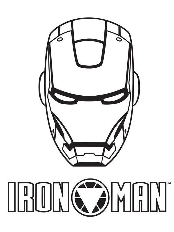 97 Brilliant Iron Man Helmet Coloring Pages With Mask