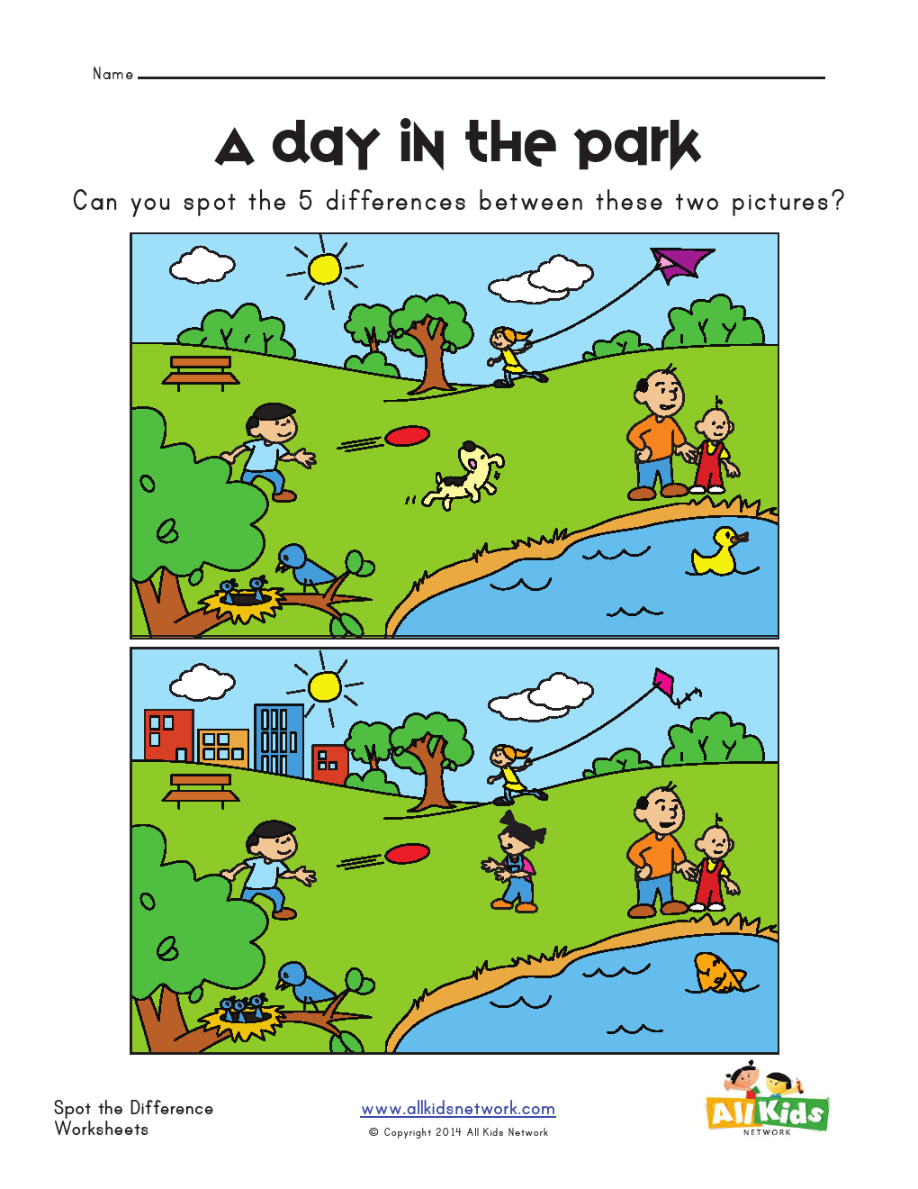 Find the Difference Worksheets for Kids in 2020