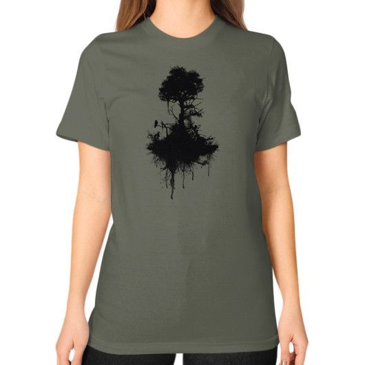 Last Tree Standing Unisex T-Shirt (on woman)