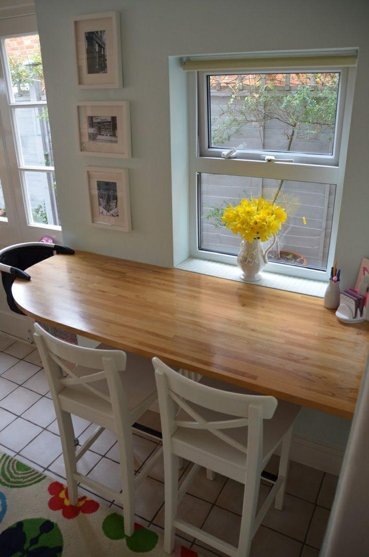 Home küche einfache design bilder einfache bartresen idee mit arbeitsplatte aus holz  küche