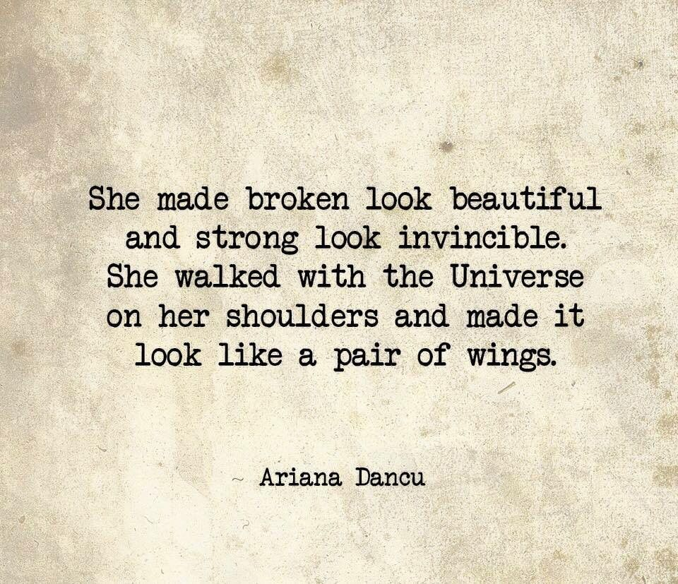 """Gorgeous Looking Quatos: """"She Made Broken Look Beautiful And Strong Look Invincible"""