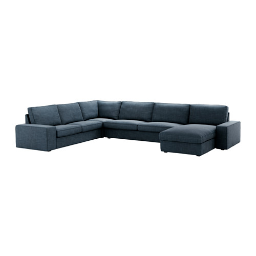 Kivik Sectional 5 Seat Hillared With Chaise Hillared Dark Blue
