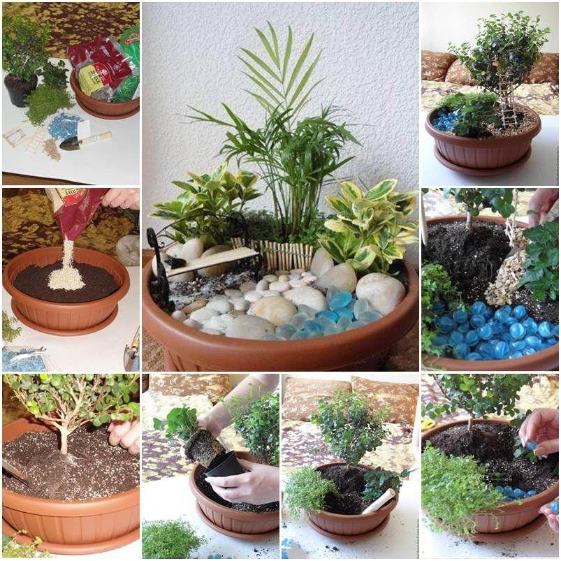 jardin miniature du0027intérieur - Recherche Google Déco Pinterest - mini jardin japonais d interieur
