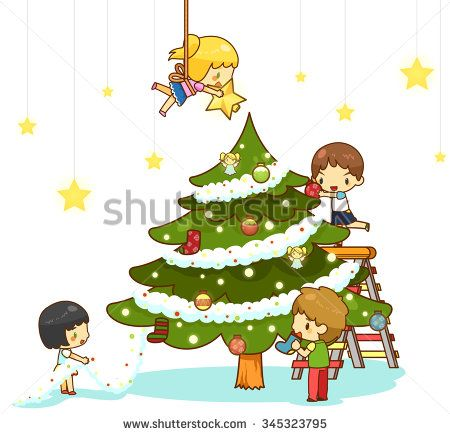 Cartoon Kids Children Boy And Girl Friends Are Decorating Giant Christmas Tree With Ornaments Toy Rainbo Christmas Tree Clipart Childrens Christmas Boy Or Girl Christmas worksheets and online activities. pinterest