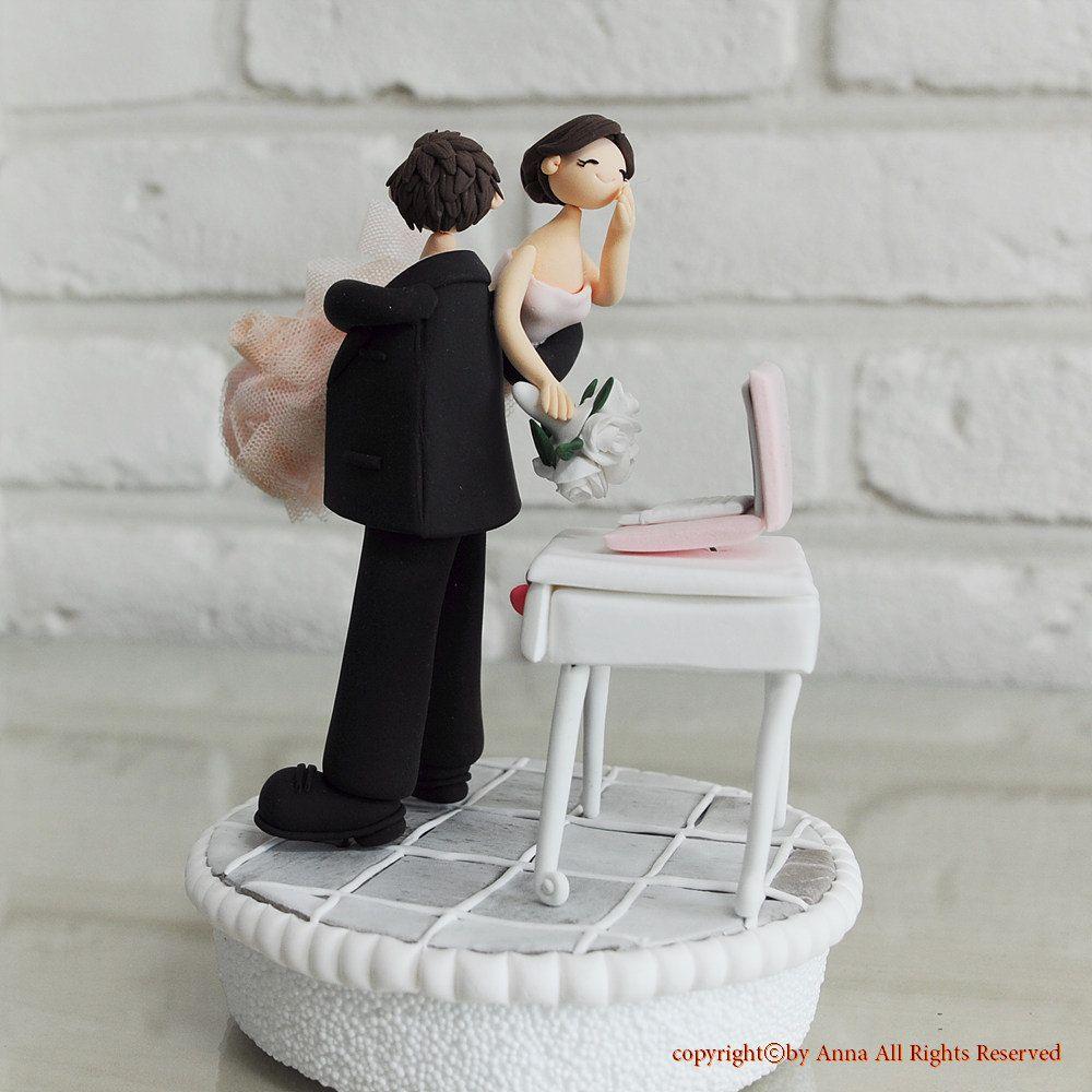 Workaholic Couple Wedding Cake Topper Gift Decoration