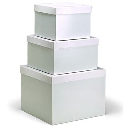 White Gift Boxes with Lids | White gift boxes, Box and Centerpieces