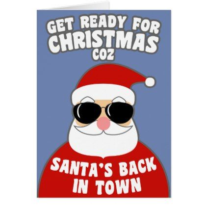 Santas back in town card funny quotes fun personalize unique santas back in town card funny quotes fun personalize unique quote m4hsunfo