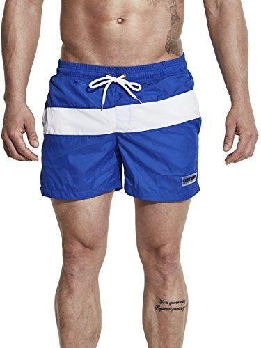 612756d2007a5 Neleus Men's Swimming Trunks Beach Shorts With Pockets,710,Blue,M,Tag XL