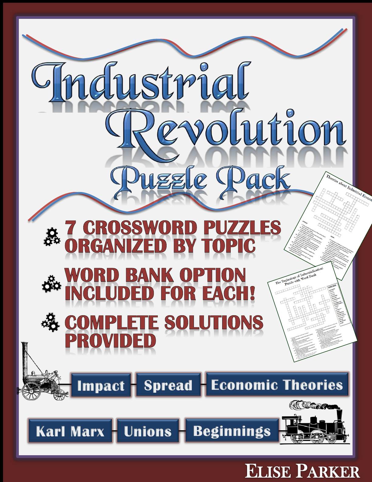 Industrial Revolution Worksheet Puzzle Pack Industrial