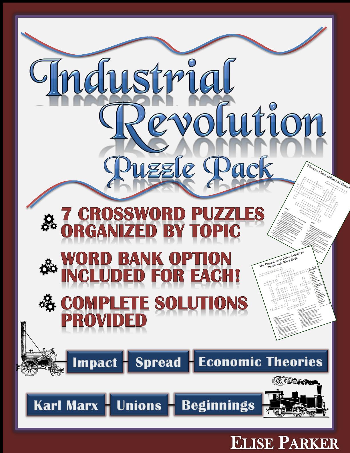 Industrial Revolution Worksheet Puzzle Pack Industrial