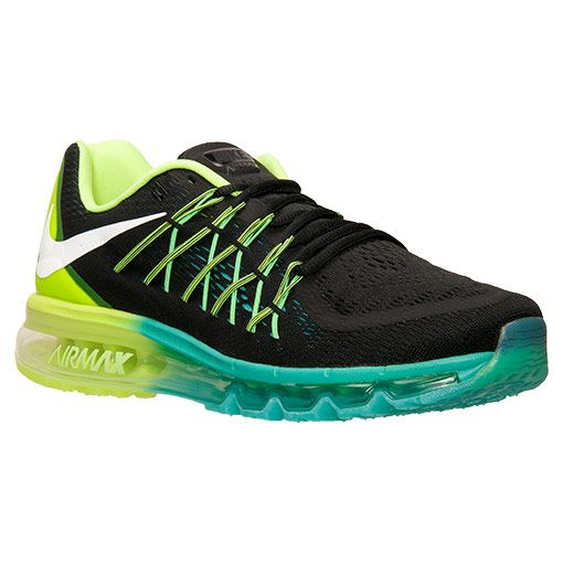 Men's Nike Air Max 2015 Running Shoes | Finish Line | Black/White/Volt