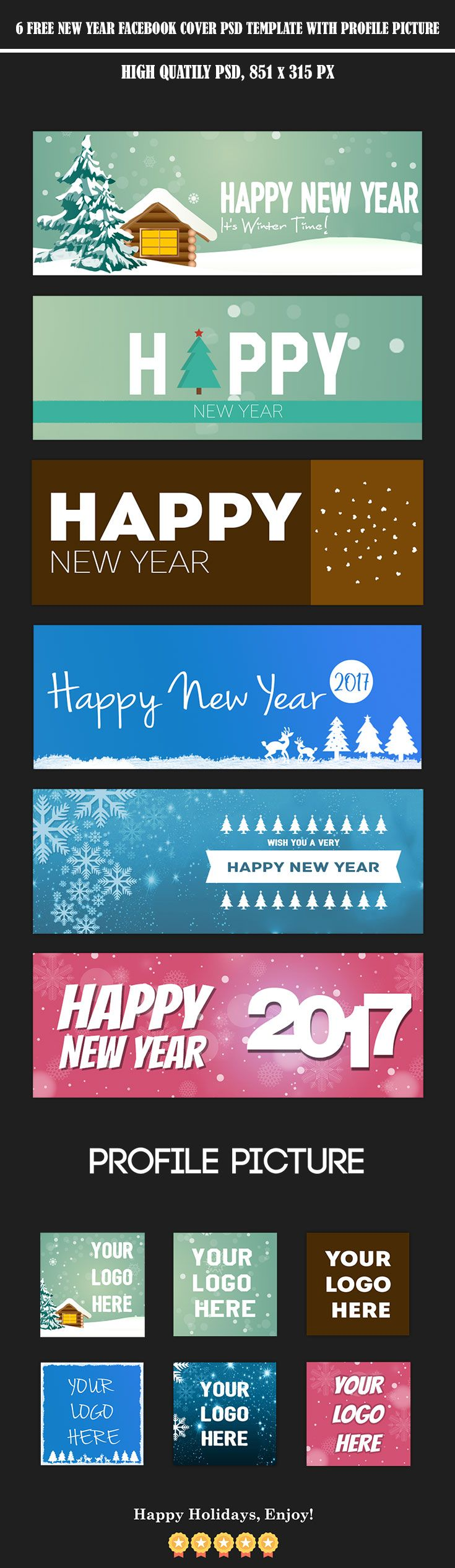 6 Free New Year Facebook Timeline Cover Template A Group Board
