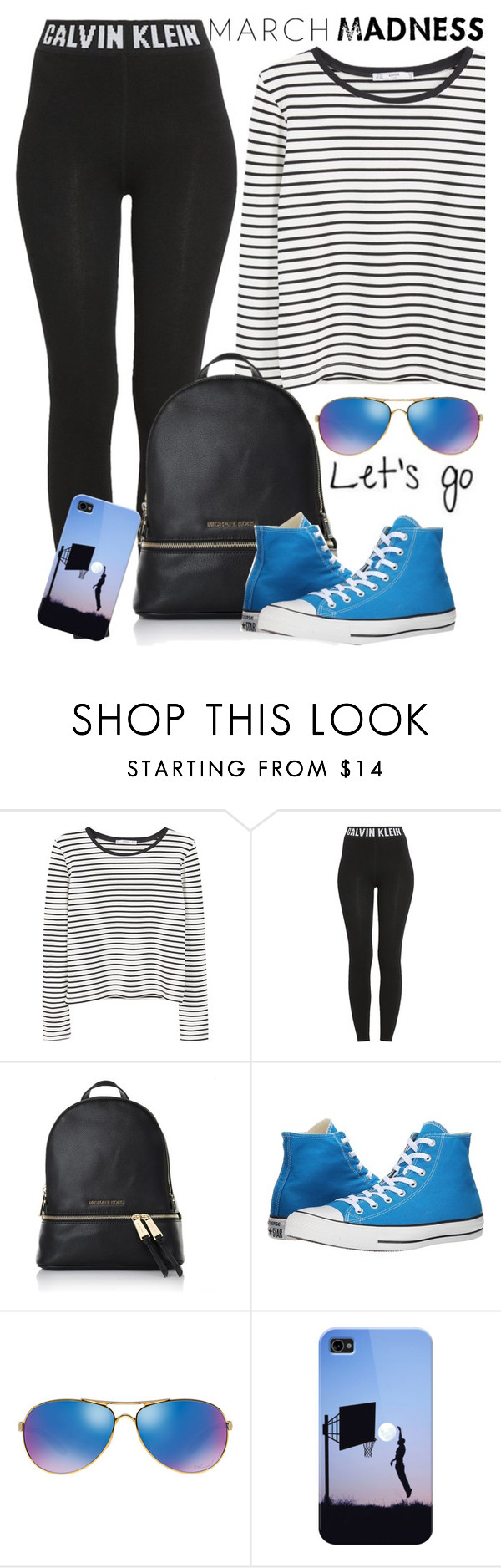 """""""March Madness begins!"""" by juliehooper ❤ liked on Polyvore featuring MANGO, Calvin Klein, Michael Kors, Converse, Oakley, Casetify and marchmadness"""