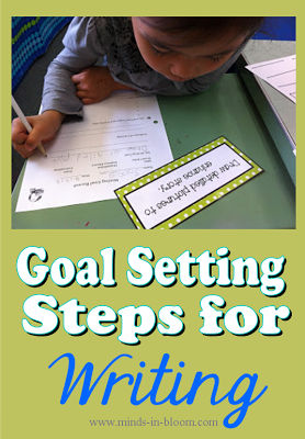 Goal Setting Steps for Writing | Writing Ideas | Teaching writing
