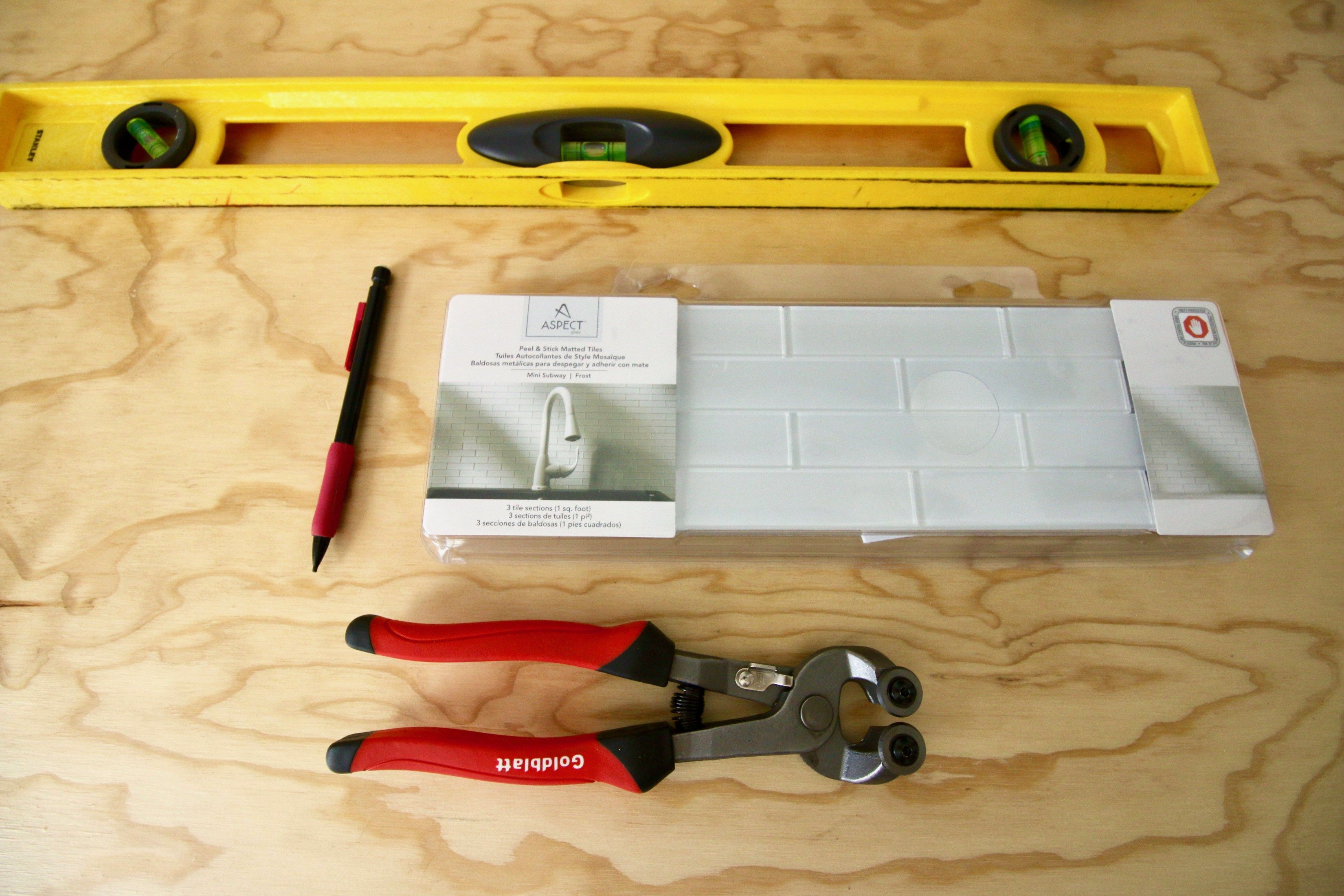 How To Hang A Peel Amp Stick Aspect Tile Accent Wall Tile