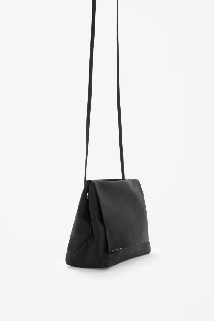 5565cfd3e6 Soft leather shoulder bag - Black - Bags   Purses - COS US